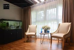 interior design with aquarium